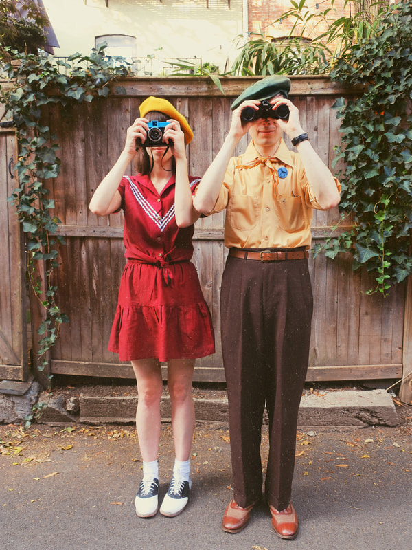 wes anderson style | wes anderson | moonrise kingdom | sam and suzy | quirky style | whimsical style | vintage style | retro style | vintage couple | couple outfits | couple costumes
