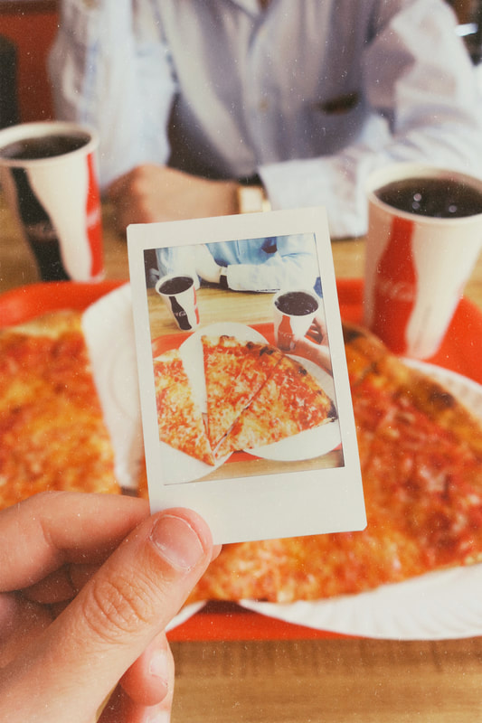 nyc pizza | New York pizza | pizza parlor | Coca Cola | pizza | coke | polaroid picture | vintage vibes | retro vibes | vintage aesthetic | retro aesthetic | vintage mood | retro mood | vintage | retro